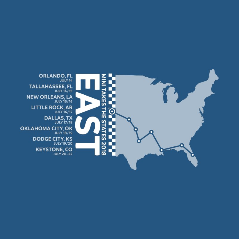 MTTS 2018 - East by TwistyMini Motoring Shirts