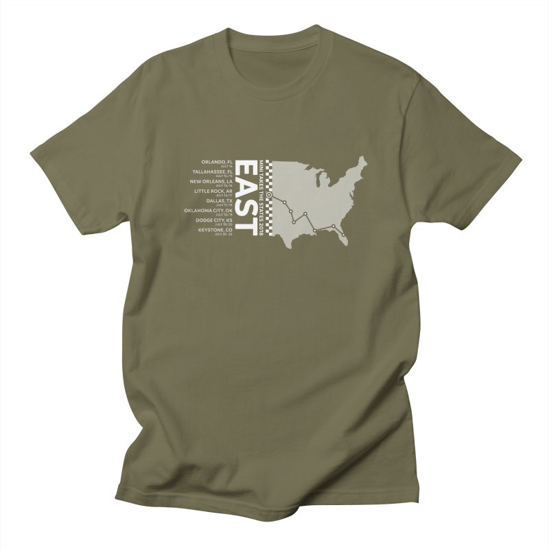 MINI Takes the States 2018 - EAST Women's Unisex T-Shirt by TwistyMini Motoring Shirts