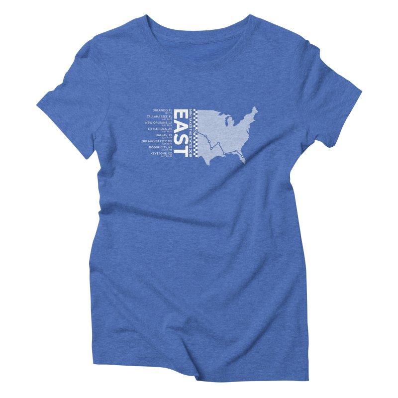 MTTS 2018 - East Women's Triblend T-Shirt by TwistyMini Motoring Shirts