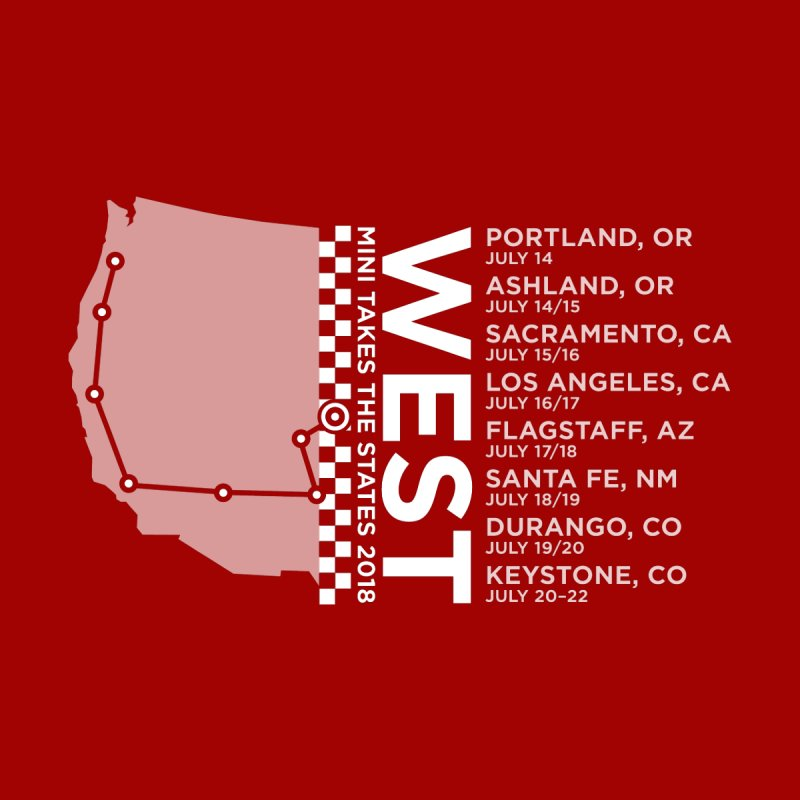 MINI Takes the States - WEST by TwistyMini Motoring Shirts