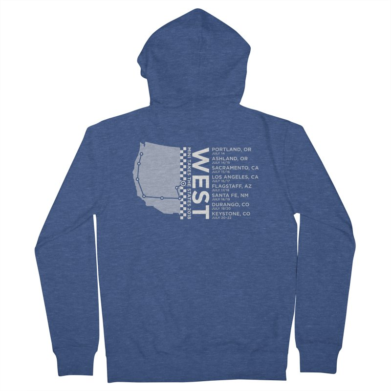 MTTS 2018 - West Men's French Terry Zip-Up Hoody by TwistyMini Motoring Shirts