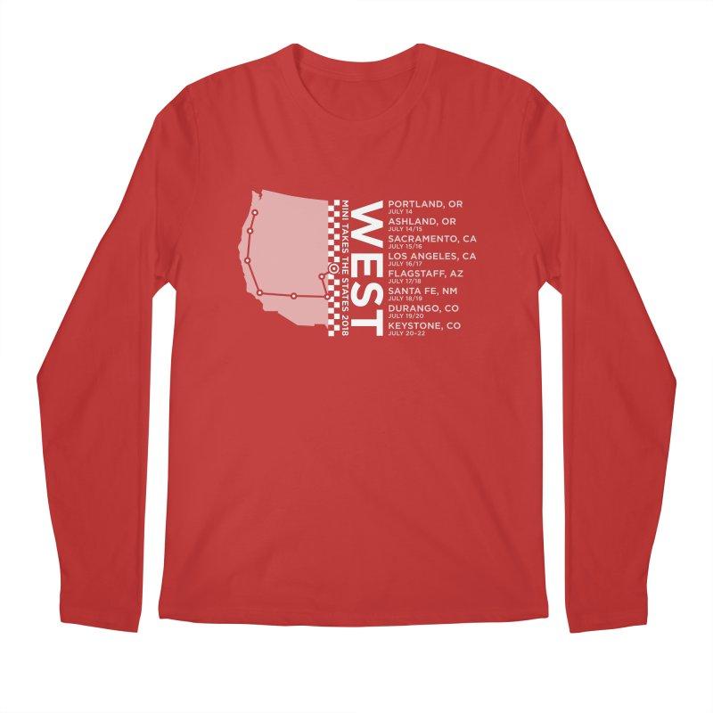 MINI Takes the States - WEST Men's Longsleeve T-Shirt by TwistyMini Motoring Shirts