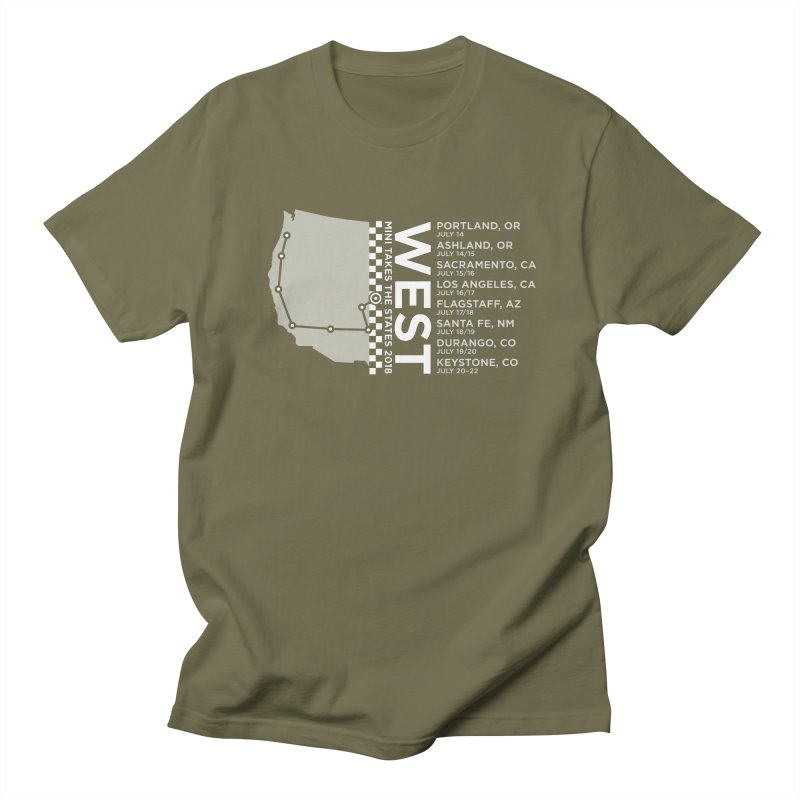 MINI Takes the States - WEST Men's T-Shirt by TwistyMini Motoring Shirts