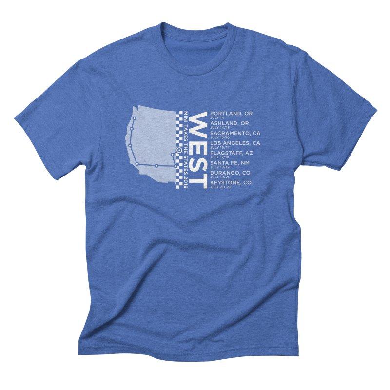 MINI Takes the States - WEST Men's Triblend T-Shirt by TwistyMini Motoring Shirts