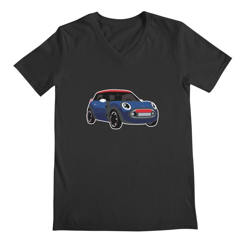 Rocketman Men's Regular V-Neck by TwistyMini Motoring Shirts