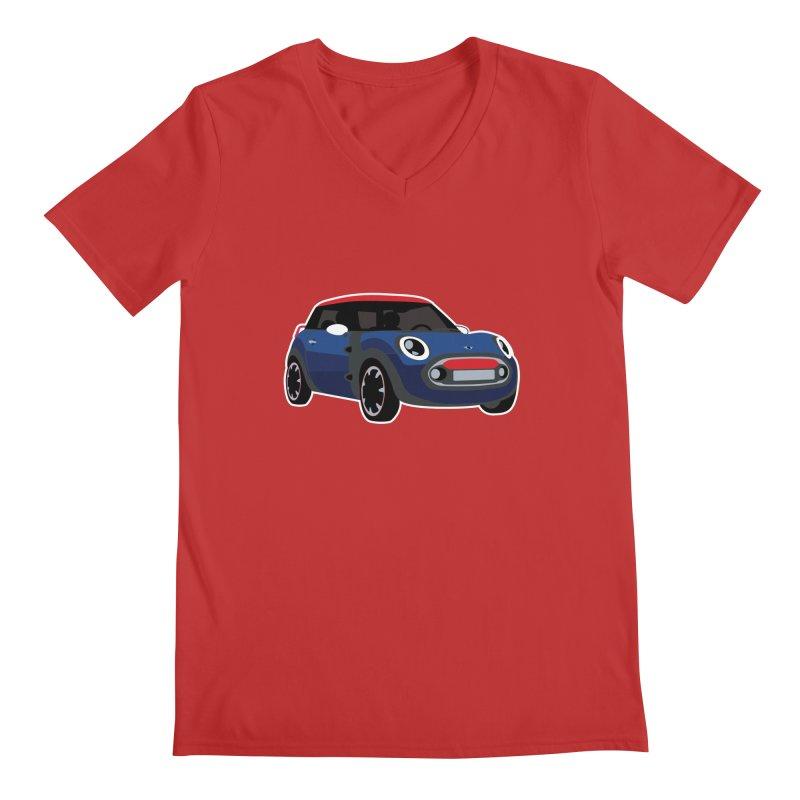 Rocketman Men's Regular V-Neck by TwistyMini Motoring Shirts