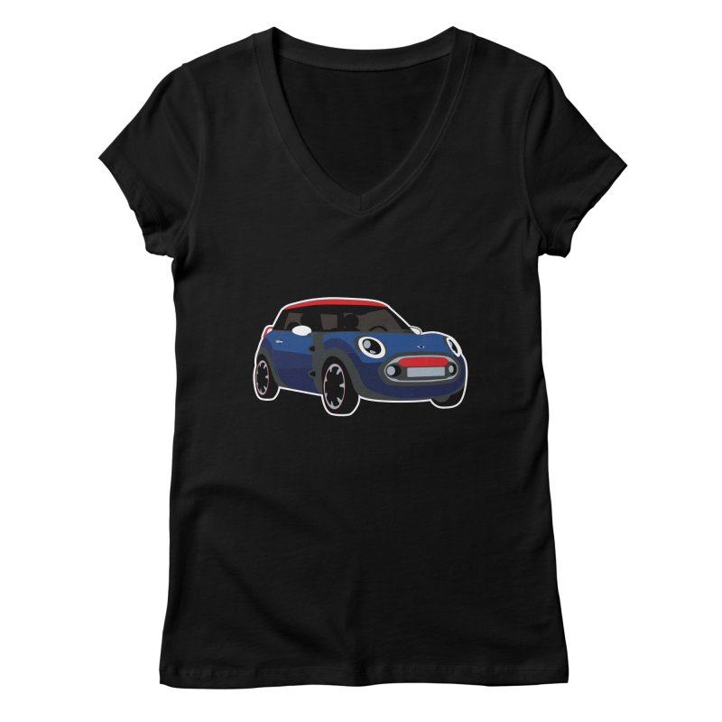Rocketman Women's Regular V-Neck by TwistyMini Motoring Shirts