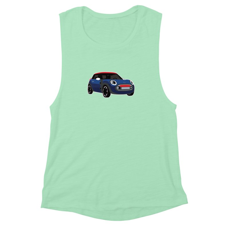 Rocketman Women's Muscle Tank by TwistyMini Motoring Shirts