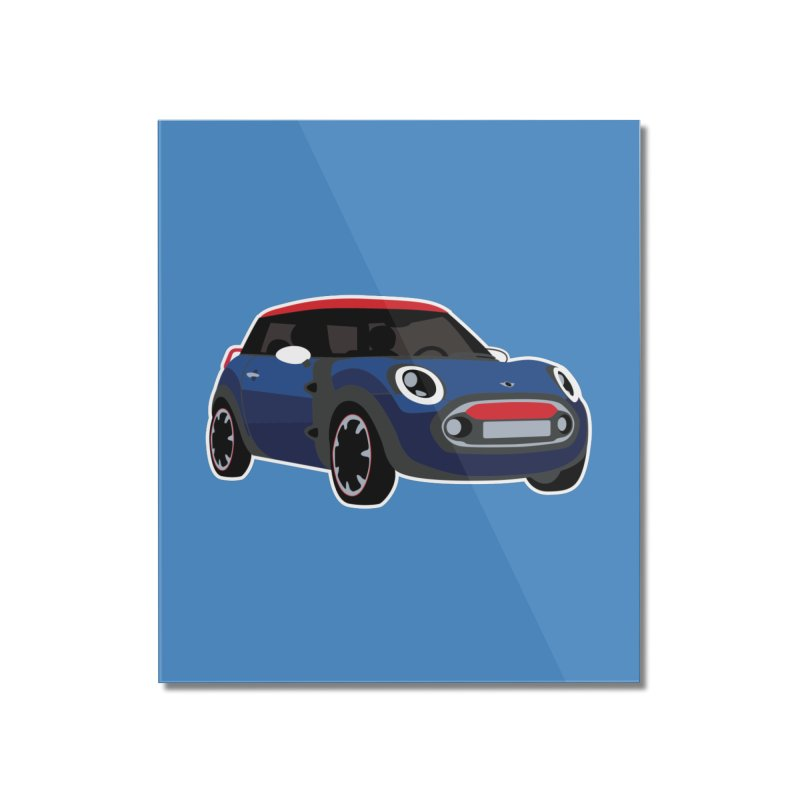 Rocketman Home Mounted Acrylic Print by TwistyMini Motoring Shirts