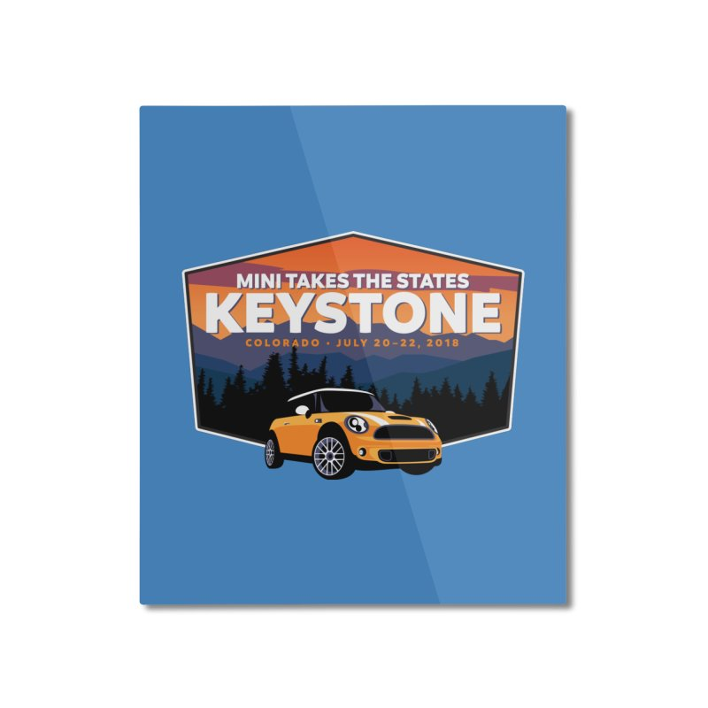 MTTS 2018 - Keystone Home Mounted Aluminum Print by TwistyMini Motoring Shirts