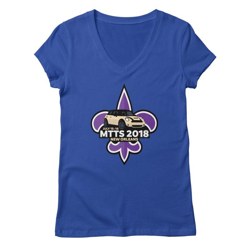 MTTS 2018 - New Orleans Women's Regular V-Neck by TwistyMini Motoring Shirts