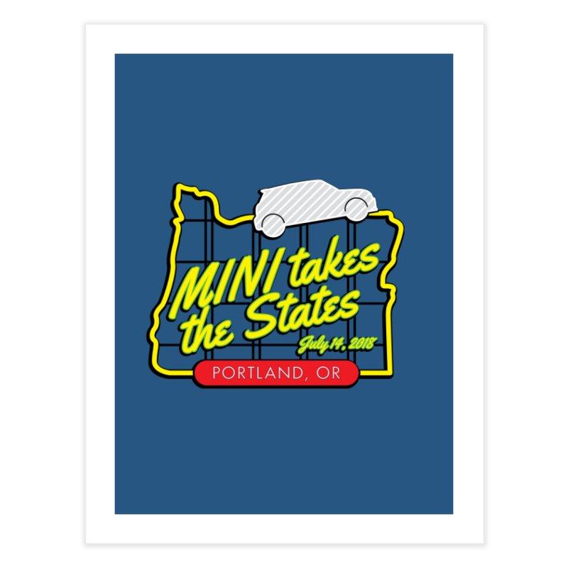 MTTS 2018 - Portland Home Fine Art Print by TwistyMini Motoring Shirts