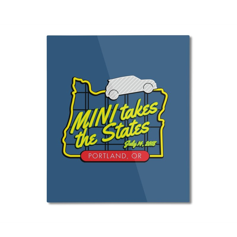 MTTS 2018 - Portland Home Mounted Aluminum Print by TwistyMini Motoring Shirts