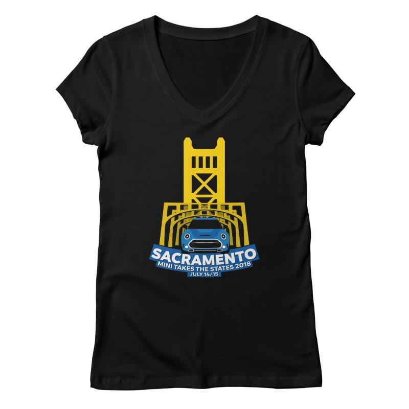 MTTS 2018 - Sacramento Women's Regular V-Neck by TwistyMini Motoring Shirts