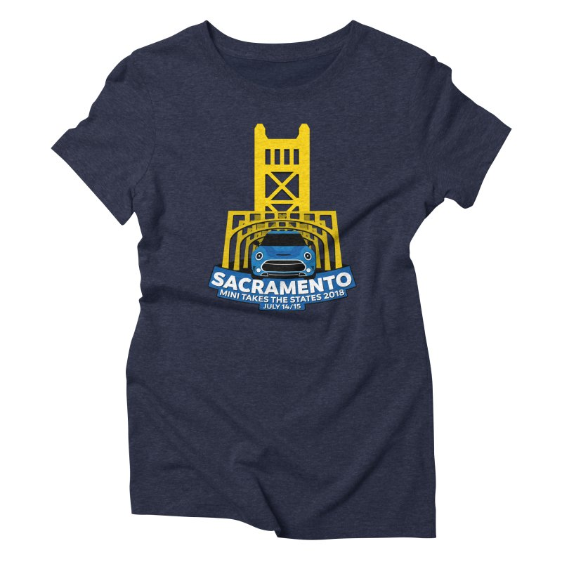 MTTS 2018 - Sacramento Women's Triblend T-Shirt by TwistyMini Motoring Shirts