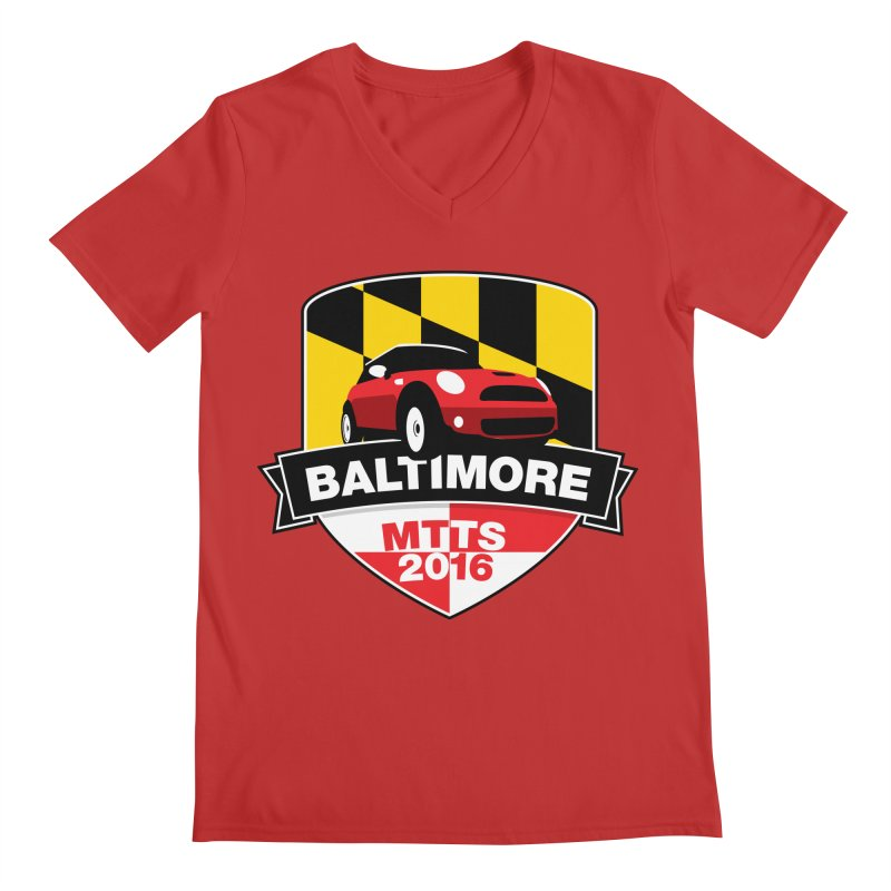 Baltimore – MTTS 2016 Men's V-Neck by TwistyMini Motoring Shirts