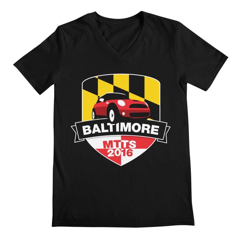 Baltimore – MTTS 2016 Men's Regular V-Neck by TwistyMini Motoring Shirts