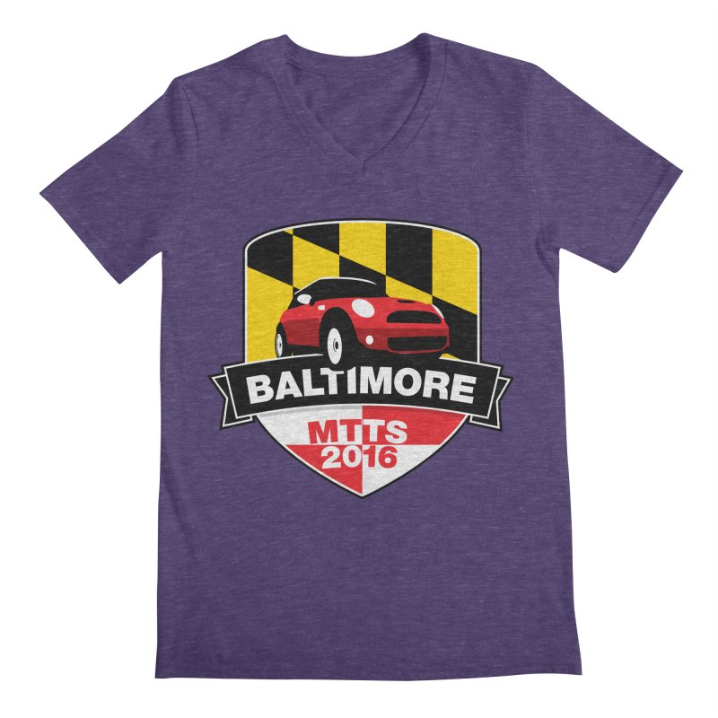 Baltimore – MTTS 2016 Men's Regular V-Neck by TwistyMini Motoring Shirts