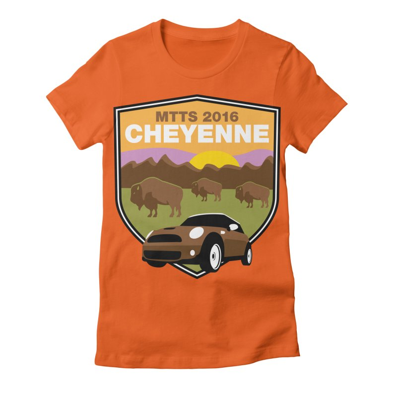 Cheyenne – MTTS 2016 Women's Fitted T-Shirt by TwistyMini Motoring Shirts