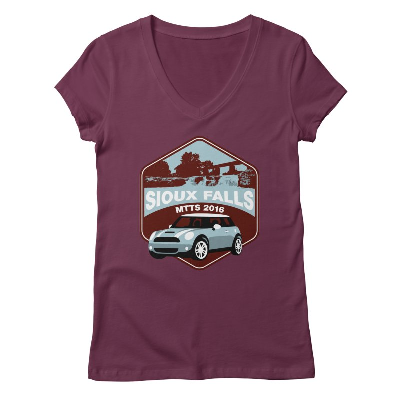Sioux Falls – MTTS 2016 Women's V-Neck by TwistyMini Motoring Shirts