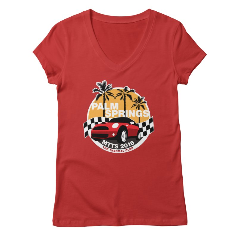 Palm Springs – MTTS 2016 Women's V-Neck by TwistyMini Motoring Shirts