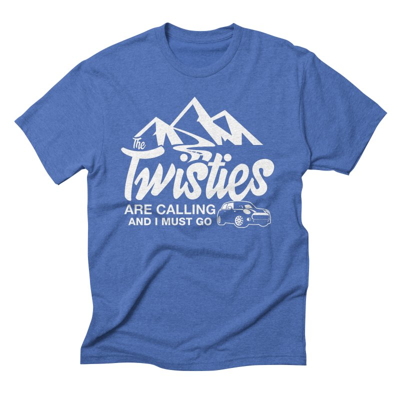 The Twists are Calling Men's Triblend T-Shirt by TwistyMini Motoring Shirts
