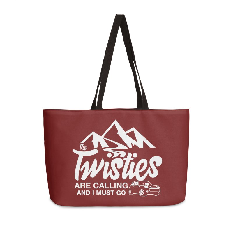 The Twists are Calling Accessories Weekender Bag Bag by TwistyMini Motoring Shirts