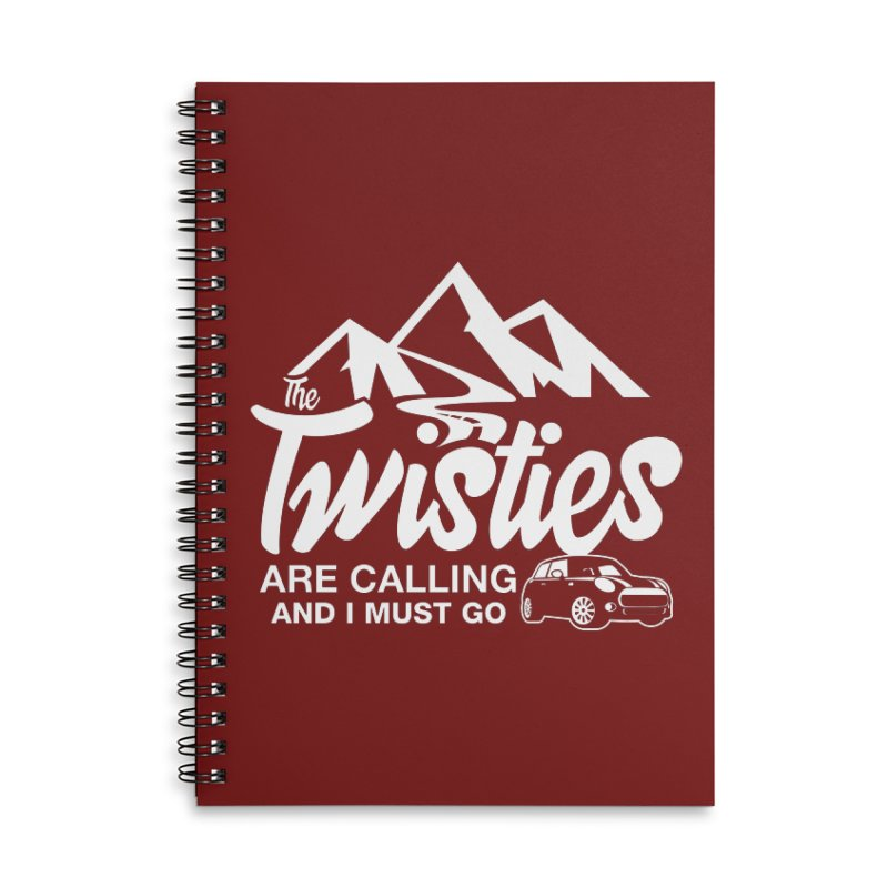 The Twists are Calling Accessories Lined Spiral Notebook by TwistyMini Motoring Shirts