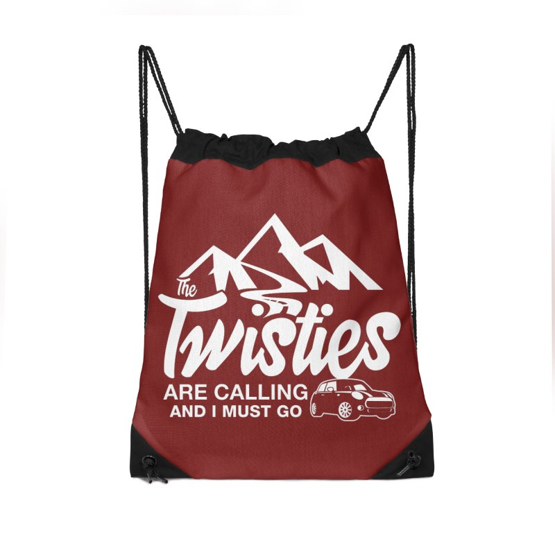 The Twists are Calling Accessories Drawstring Bag Bag by TwistyMini Motoring Shirts