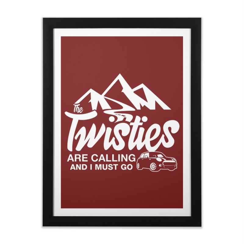 The Twists are Calling Home Framed Fine Art Print by TwistyMini Motoring Shirts