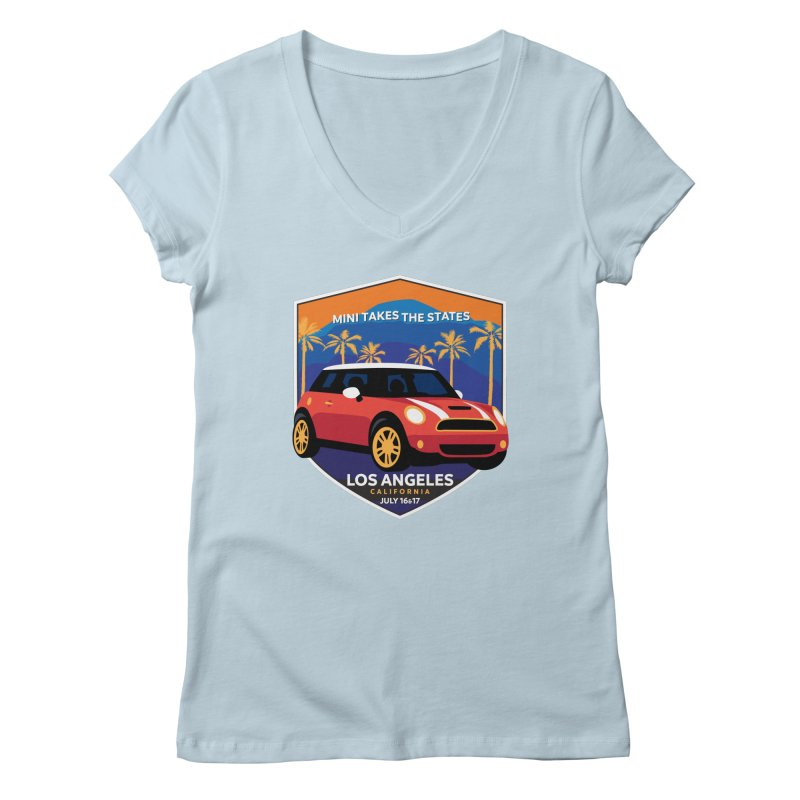 MTTS 2018 - Los Angeles Women's Regular V-Neck by TwistyMini Motoring Shirts