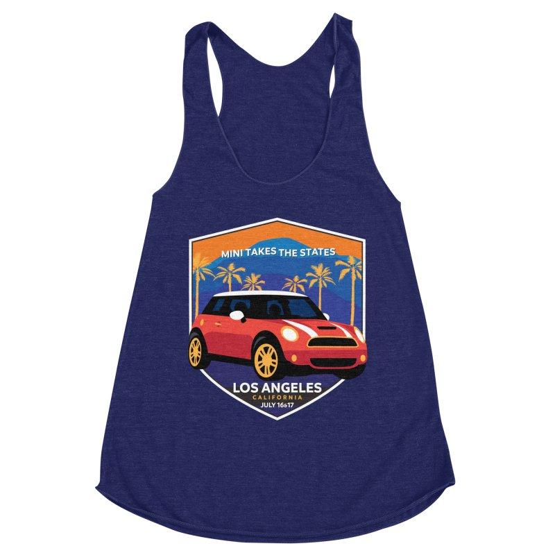 MTTS 2018 - Los Angeles Women's Racerback Triblend Tank by TwistyMini Motoring Shirts