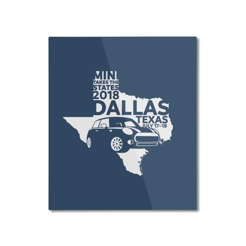 MTTS 2018 - Dallas Home Mounted Aluminum Print by TwistyMini Motoring Shirts