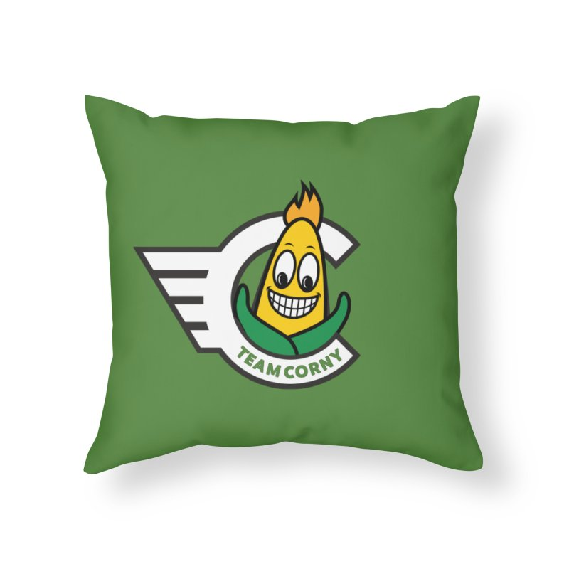 Team Corny 2018 Home Throw Pillow by TwistyMini Motoring Shirts