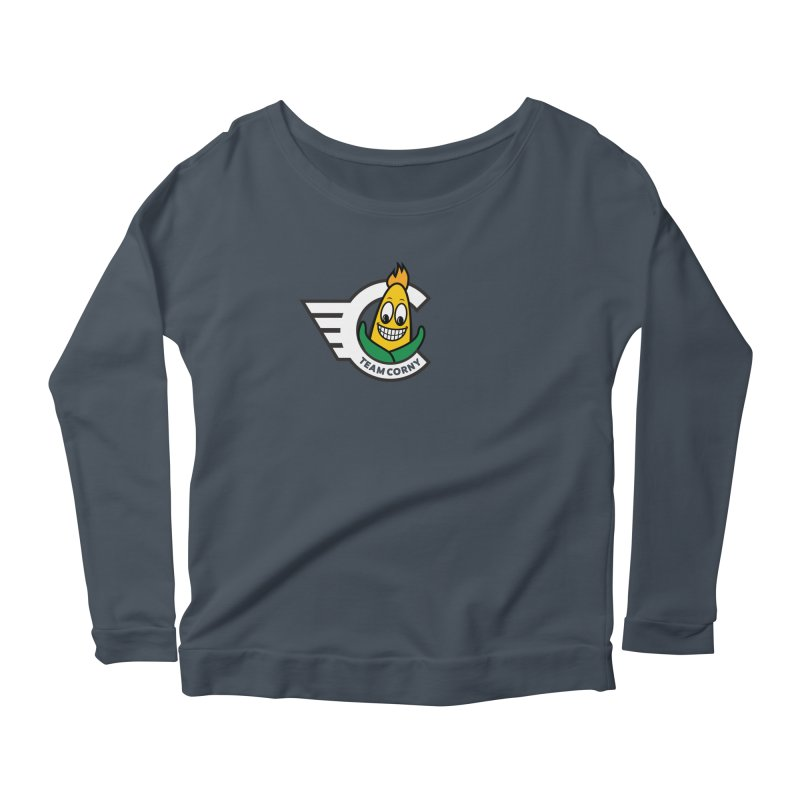 Team Corny 2018 Women's Scoop Neck Longsleeve T-Shirt by TwistyMini Motoring Shirts
