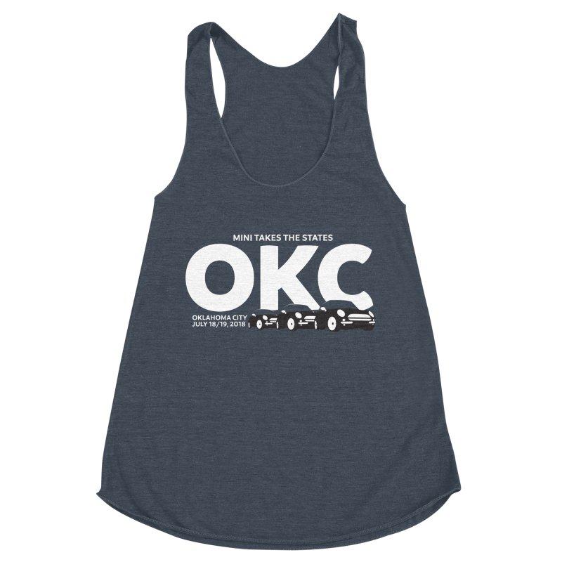 MTTS 2018 - Oklahoma City Women's Racerback Triblend Tank by TwistyMini Motoring Shirts