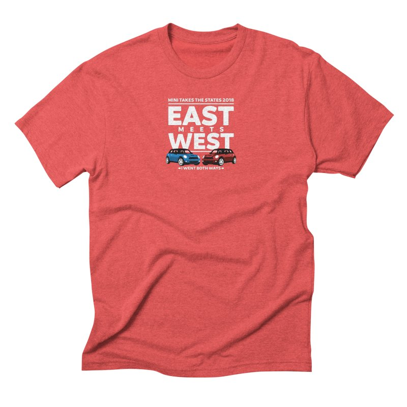 MTTS 2018 - East Meets West (type only) Men's Triblend T-Shirt by TwistyMini Motoring Shirts
