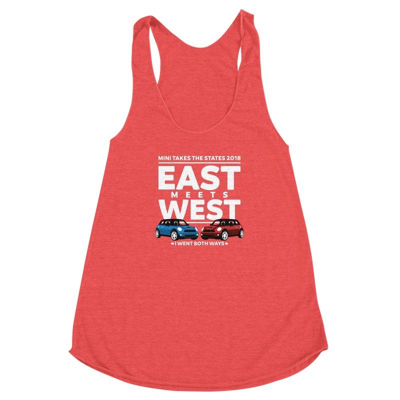 MTTS 2018 - East Meets West (type only) Women's Racerback Triblend Tank by TwistyMini Motoring Shirts