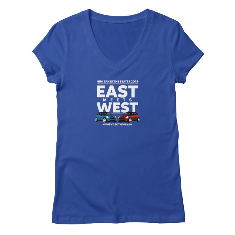 MTTS 2018 - East Meets West (type only) Women's V-Neck by TwistyMini Motoring Shirts