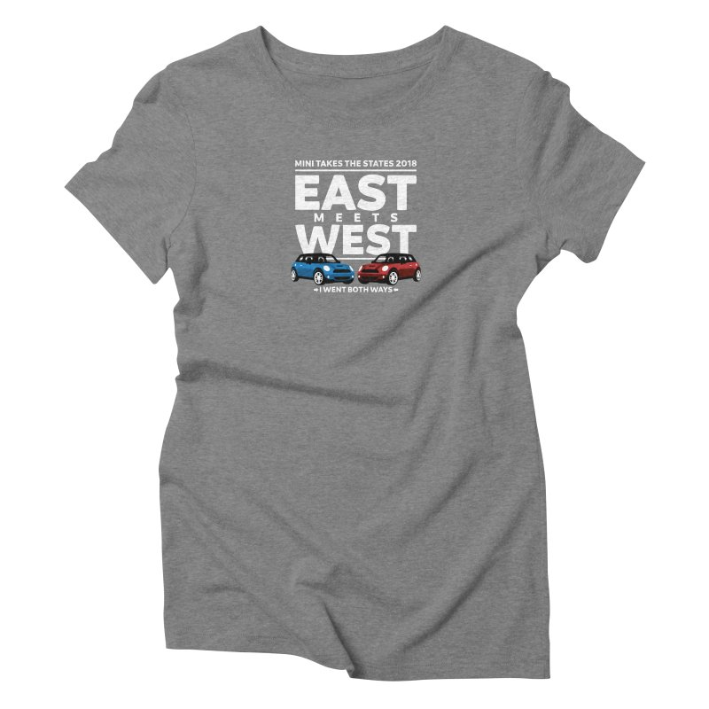 MTTS 2018 - East Meets West (type only) Women's Triblend T-Shirt by TwistyMini Motoring Shirts