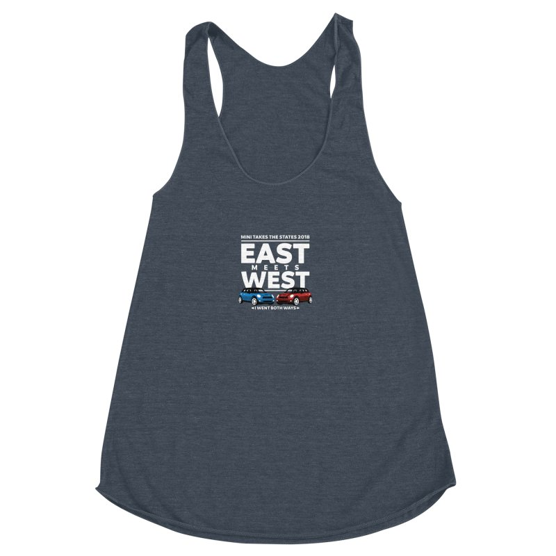 MTTS 2018 - East Meets West (type only) Women's Racerback Triblend Tank by TwistyMini Motoring Shirts