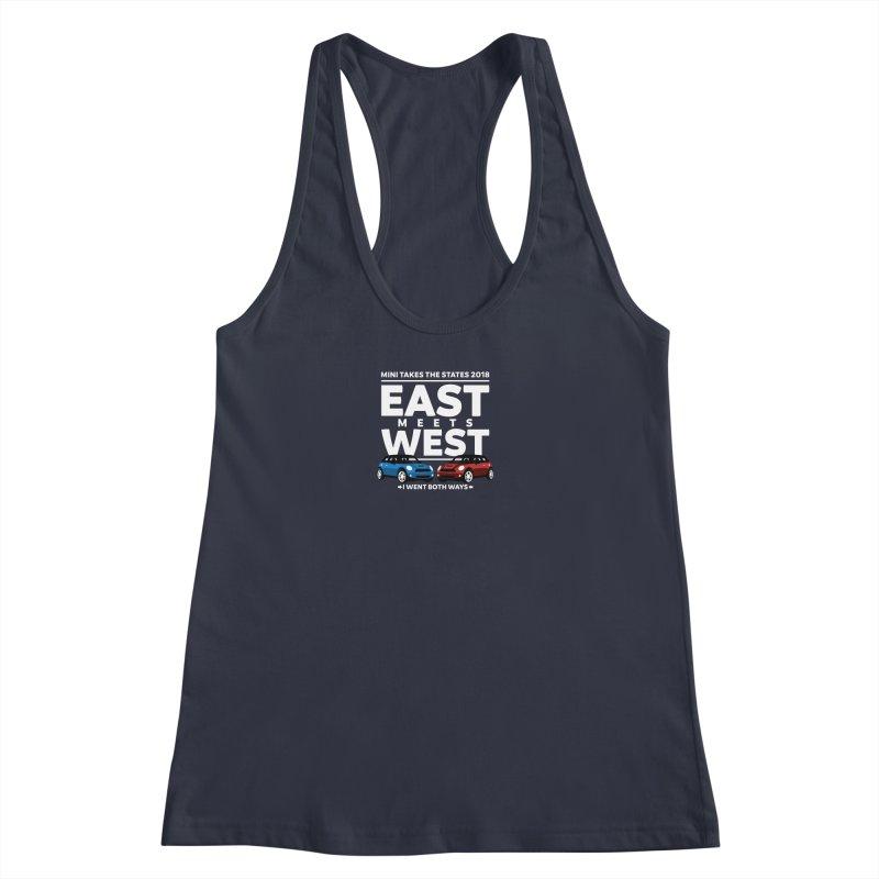 MTTS 2018 - East Meets West (type only) Women's Racerback Tank by TwistyMini Motoring Shirts