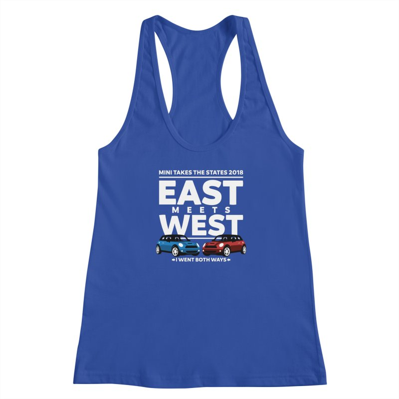 MTTS 2018 - East Meets West (type only) Women's Racerback Tank by TwistyMini Motoring Shirts