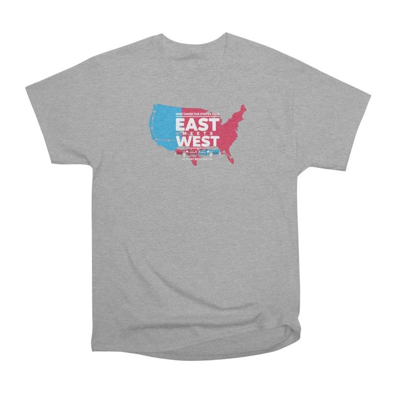 MTTS 2018 - East Meets West (map) Men's Heavyweight T-Shirt by TwistyMini Motoring Shirts