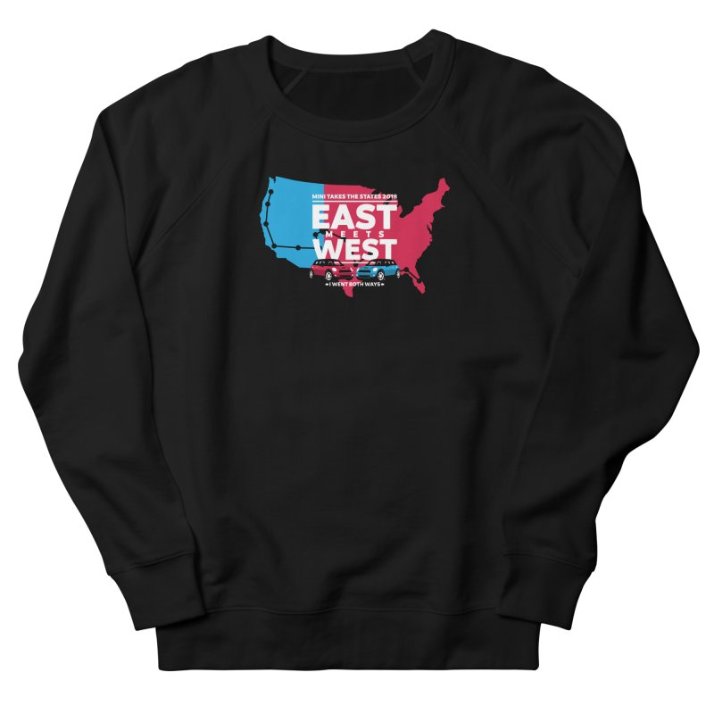 MTTS 2018 - East Meets West (map) Women's French Terry Sweatshirt by TwistyMini Motoring Shirts