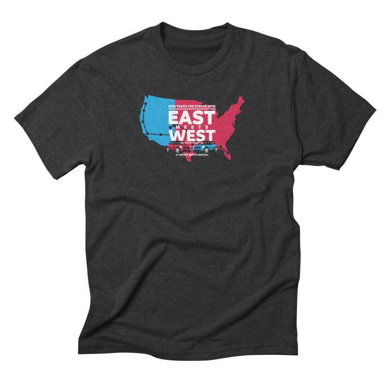 MTTS 2018 - East Meets West (map) Men's Triblend T-Shirt by TwistyMini Motoring Shirts