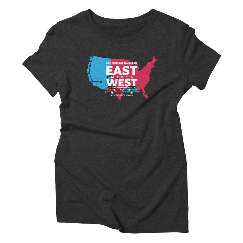 MTTS 2018 - East Meets West (map) Women's T-Shirt by TwistyMini Motoring Shirts