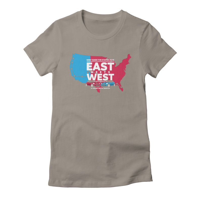 MTTS 2018 - East Meets West (map) Women's Fitted T-Shirt by TwistyMini Motoring Shirts