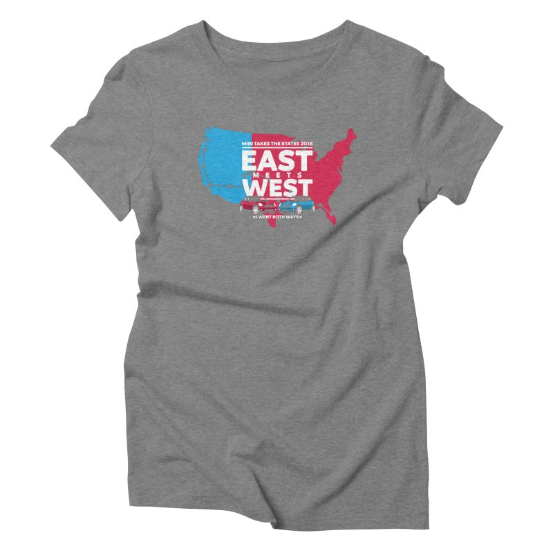 MTTS 2018 - East Meets West (map) Women's Triblend T-Shirt by TwistyMini Motoring Shirts