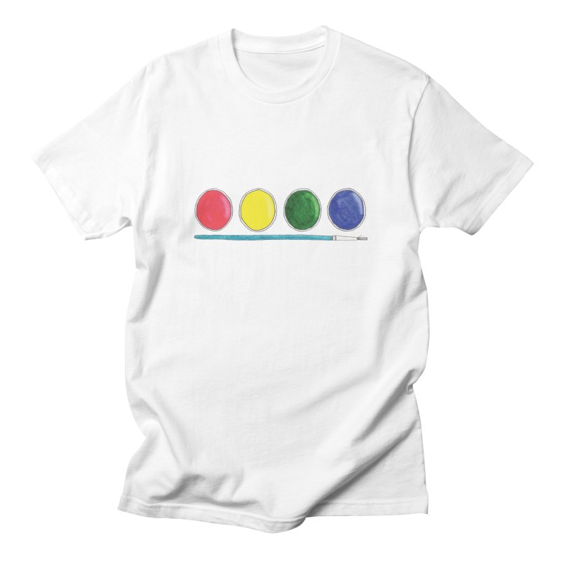 Watercolors Men's T-Shirt by Nick's Artist Shop